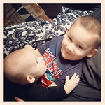 """""""I am thankful for my boys, Liam, 2, and Connor, 6 months. I wasn't supposed to have kids, but here they are! I am lucky to be their mother."""" -Rachel Fisk"""