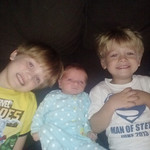 """We are thankful for our children, Connor, 5;  Kaylyn, 4 months; and Jaxon, 2."" -Jesse and Leann Lattea"