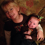 """""""I'm thankful for my two healthy, beautiful little girls, Addison, 5, and Emerson, 3 months. Life is complete this holiday season with my perfect family!"""" – Nikki Beal of Amherst"""