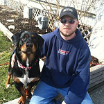 """""""I am thankful for the two great loves of my life, my boyfriend, Brian Blackstone, and our dog, Chevy the Therapy Dog. They have changed my life in so many amazing ways!"""" -Corinne Jaenke"""