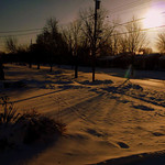 Diane Moore Mohrman shared this photo of the sun shining on Livermore Lane in Elyria on Jan. 7.