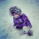 Ryan Jones' daughter, Dalaney, 3, plays in the snow on Jan. 1 in South Lorain.