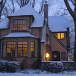 The snow made Jeanne Buttle Williams' house at the corner of Garford and Cornell look like something out of a Thomas Kinade painting in the early morning light on Dec. 14.