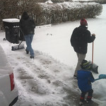 Who needs a snowblower when you have Rick, Caleb and Dallas to clear the snow on Dec. 14?