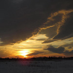 Jeanne Buttle Williams sent this photo of the sunset on Jan. 4 at the Lorain County Regional Airport.