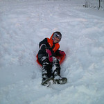 Tyler Lear, 9, plays in the snow at Lorain County Community College on Jan. 3.