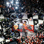 Jamie McMurray and his crew celebrate in victory lane after he won the NASCAR Daytona 500 auto race Sunday, Feb. 14, 2010, at Daytona International Speedway in Daytona Beach, Fla. (AP Photo/ …