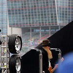 ZZ Top Singer Billy Gibbons performs before the start of the NASCAR Sprint Cup Series auto race at Texas Motor Speedway, on Sunday, Nov. 8, 2009, in Fort Worth, Texas. (AP Photo/Ralph Lauer)
