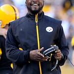 Pittsburgh Steelers coach Mike Tomlin walks the sidelines in the fourth quarter against the Cleveland Browns during an  NFL football game in Pittsburgh, Sunday, Oct. 17, 2010. The Steelers w …