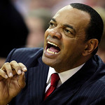 Memphis Grizzlies head coach Lionel Hollins yells to players in the second quarter in an NBA basketball game against the Cleveland Cavaliers on Tuesday, Feb. 2, 2010, in Cleveland. (AP Photo …