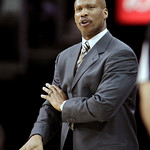Cleveland Cavaliers head coach Byron Scott reacts in the second quarter in an NBA basketball game against the Phoenix Suns Wednesday, Jan. 19, 2011, in Cleveland. The Suns won 106-98. (AP Ph …
