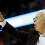 Charlotte Bobcats head coach Larry Brown signals to players during the fourth quarter in an NBA preseason basketball game against the Cleveland Cavaliers Tuesday, Oct. 5, 2010, in Cleveland. …