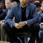 Cleveland Cavaliers head coach Byron Scott watches during the first quarter in an NBA preseason basketball game against the Charlotte Bobcats Tuesday, Oct. 5, 2010, in Cleveland. The Cavalie …