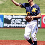 Kent State second baseman Justin Wagler makes the short throw to first to get the easy out. ANNA NORRIS/CHRONICLE
