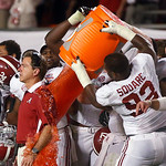 Alabama head coach Nick Saban is dunked with Gatorade in the final seconds of  the BCS National Championship college football game against Notre Dame Monday, Jan. 7, 2013, in Miami. Alabama  …