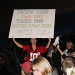 Alabama fans celebrate on The Strip after an Alabama win over the Notre Dame Fighting Irish for the 15th National Championship title in Tuscaloosa, Ala. Monday, Jan. 7, 2013. (AP/Tuscaloosa  …