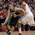 Michigan State's Matt Costello, left, drives against Ohio State's Amir Williams during the second half of an NCAA college basketball game Sunday, Feb. 24, 2013, in Columbus, Ohio. Ohio State …