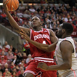 Indiana's Victor Oladipo, left, shoots over Ohio State's Evan Ravenel during the second half of an NCAA college basketball game on Sunday, Feb. 10, 2013, in Columbus, Ohio. Indiana defeated  …