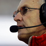 In this Saturday, Nov. 7, 2009 photo, Ohio State coach Jim Tressel walks the sideline during the first half of an NCAA college football game against Penn State in State College, Pa. Ohio Sta …