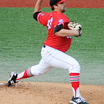 Lake Erie Crushers' Todd Kibby pitches against the Normal CornBelters. KRISTIN BAUER | CHRONICLE