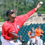Lake Erie Crushers pitcher Jose Rosario pitches against the Schaumburg Boomers. ANNA NORRIS/CHRONICLE