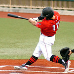 Crushers #17 Russell Moldenhauer hits a double.