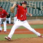 Crushers starting pitcher #7 Matt Rein.