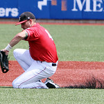 Lake Erie Crushers first baseman Joey Burney snags the ground ball. ANNA NORRIS/CHRONICLE