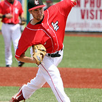 Lake Erie Crushers' Matt Rein pitches against the Frontier Greys. ANNA NORRIS/CHRONICLE