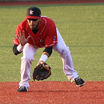 Crushers shortstop Juan Sanchez fields a ground ball before making the out at first. CHRISTY LEGEZA/CHRONICLE