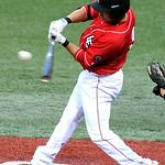 Lake Erie Crushers' Trevor Stevens bats against the Windy City ThunderBolts. KRISTIN BAUER | CHRONICLE