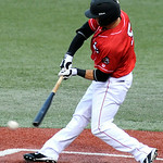 Lake Erie Crushers' Craig Hertler bats against the Windy City ThunderBolts. KRISTIN BAUER   CHRONICLE