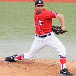 Lake Erie Crushers' Jannis Mickey pitches against Traverse City. KRISTIN BAUER | CHRONICLE