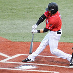 Lake Erie Crushers' Craig Hertler bats on Tuesday. KRISTIN BAUER | CHRONICLE