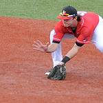 Lake Erie Crusher's second baseman Matt Dickason fields a ground ball. KRISTIN BAUER | CHRONICLE