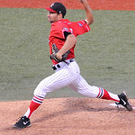 Lake Erie Crushers' Mickey Jannis pitches against the Washington Wild Things. KRISTIN BAUER | CHRONICLE