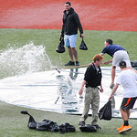 The Lake Erie Crushers game was delayed for about 45 minutes due to a heavy rain storm.  KRISTIN BAUER | CHRONICLE