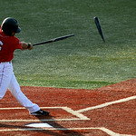 Lake Erie Crusher's Vincent Mejia cracks his bat in half on a double. KRISTIN BAUER | CHRONICLE