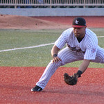 Crushers third baseman Vincent Mejia makes the play to get the out. CHRISTY LEGEZA/CHRONICLE