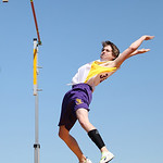 Avon Sophomore, Kyle Longrich places 3rd and sets a personal record of 13' in the pole vault at the 2014 Comet Relays. photo by Ray Riedel