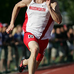 Wadsworth's Hunter Williams places 6th in the 200m dash at the OHSAA state championship. photo by Ray Riedel