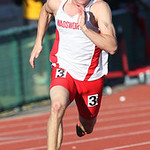Wadsworth's Hunter Williams qualifies for the 200m finals at the OHSAA state championship. photo by Ray Riedel