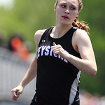 Keystone's Emily Peters places 4th in the 200m dash at the Division II Regional championships in Lexington. photo by Ray Riedel