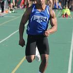 Richie Norman of Brunswick runs in the boys 100 meter dash. STEVE MANHEIM/CHRONICLE