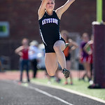 Brittany Gates Long Jump at PAC Track Meet