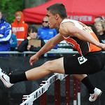 Buckeye's Michael Keith places second in the boy's 110m hurdles on Thursday. KRISTIN BAUER | CHRONICLE