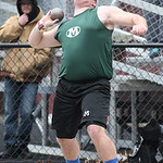 "Medina's Mike Hierholzer places 2nd in shot put with a throw of 56' 3.5"" at the Avon Lake Invitational Meet. photo by Ray Riedel"