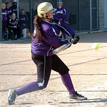 Vermilion's #12 Leigh Stainbrook gets a hit.