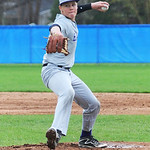 Avon freshman Logan Doenges pitches against Bay Village. KRISTIN BAUER | CHRONICLE