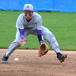 Avon second baseman Brian Baker  fields a ground ball to make a force out at first. KRISTIN BAUER | CHRONICLE